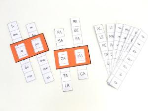 plantilla descargar e imprimir juego de formar palabras con sílabas, lectoesctirura