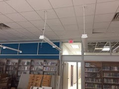 Upgraded lighting in the new book area/teen area