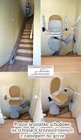 Krzesełko schodowe proste na schodach abiegowych