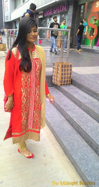 red colour suit