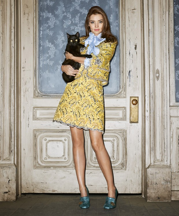 Miranda Kerr is Hauntingly Chic for Harper's Bazaar US October 2015