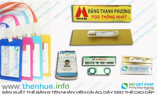 In thẻ bảng tên tại Đà Nẵng cao cấp