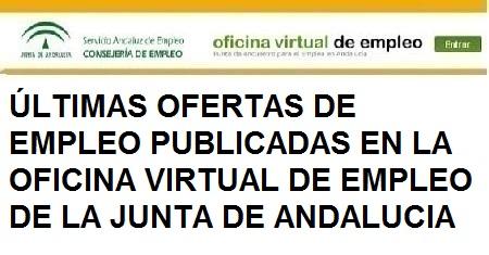 Últimas ofertas Oficina Virtual de Empleo Junta de Andalucía, Córdoba