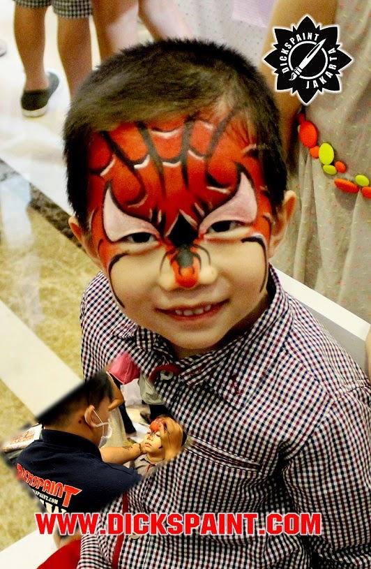face painting jakarta spiderman