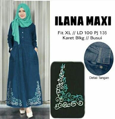 Jual Plus Jilbab / Kerudung 2 In 1 ILana Maxi Jeans - 12399