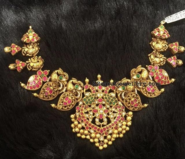 Peacock Mango Set with Lakshmi