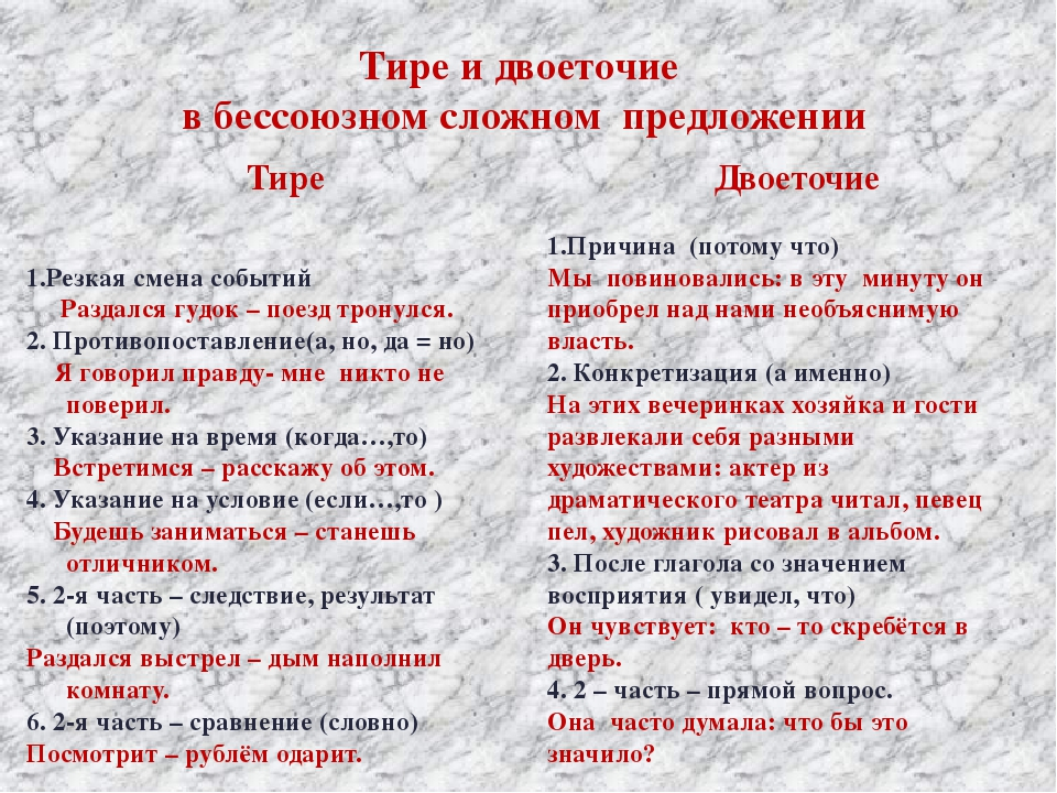 правила правописания с знаком