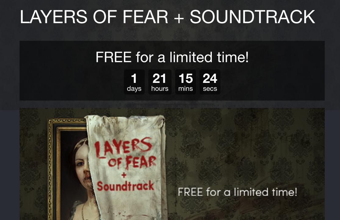 Layers of Fear gratis para Steam