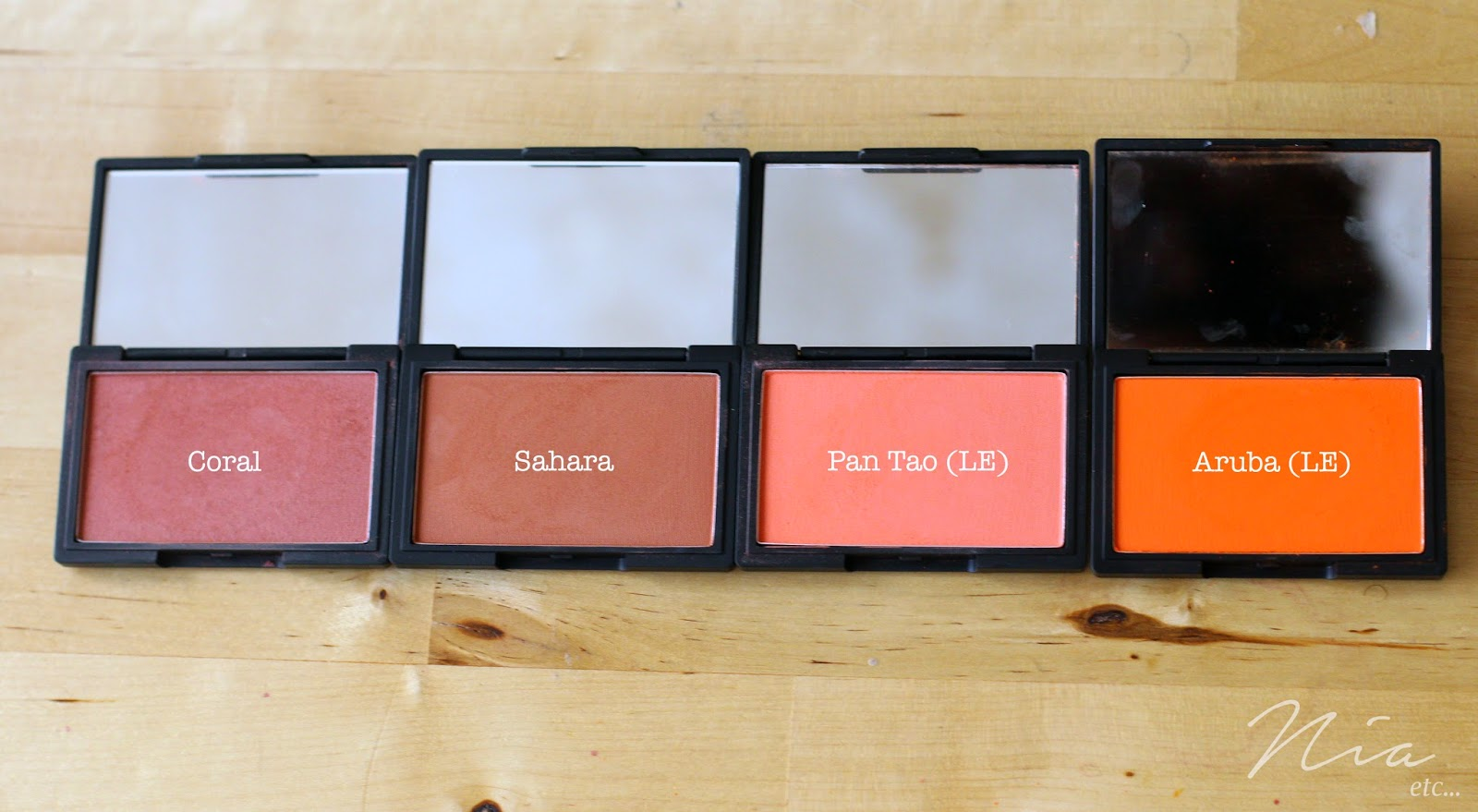 Sleek MakeUp Blushers in Coral, Sahara, Pan Tao and Aruba