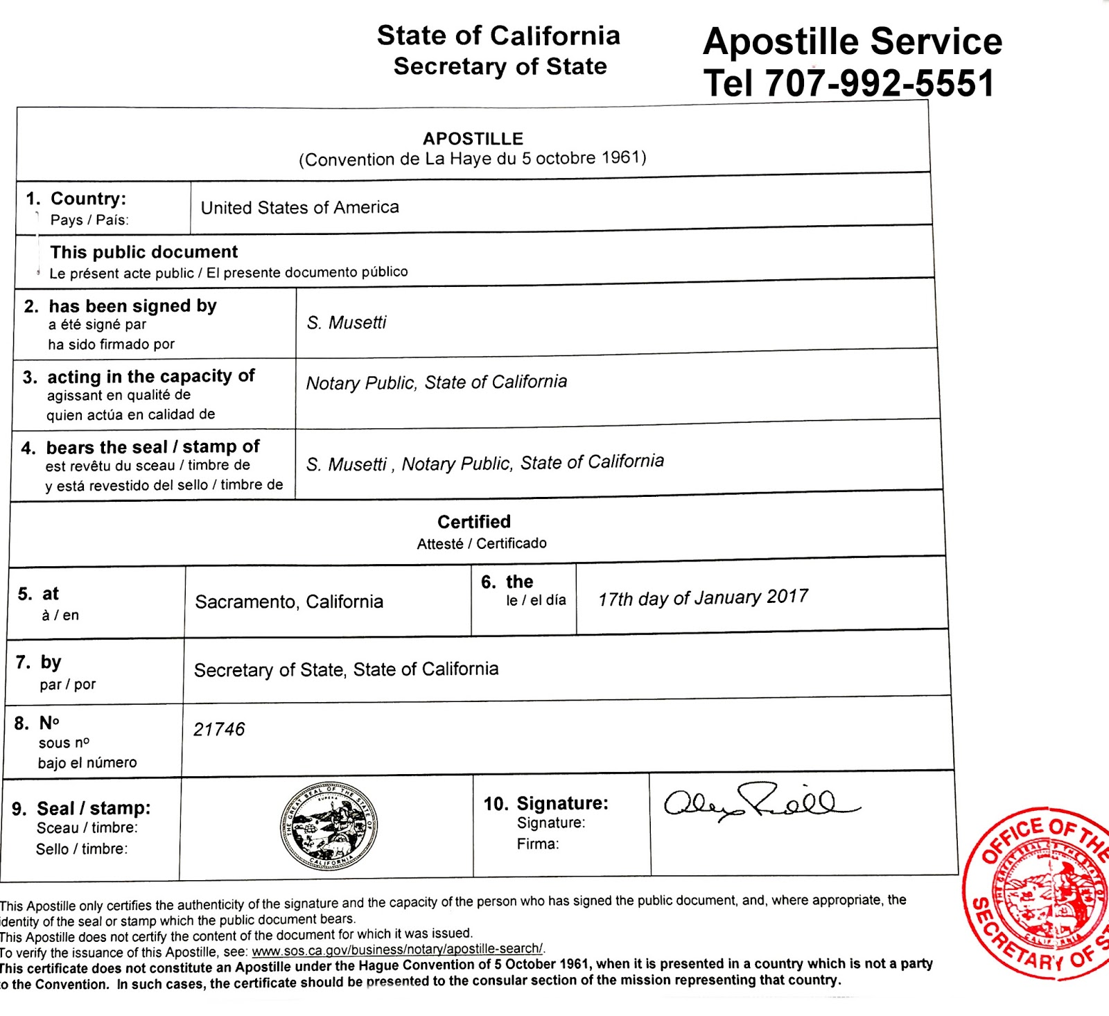 Apostille service in California | Apostille and Legalization of ...