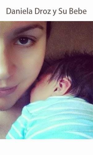 Daniela Droz Muestra Su bebe