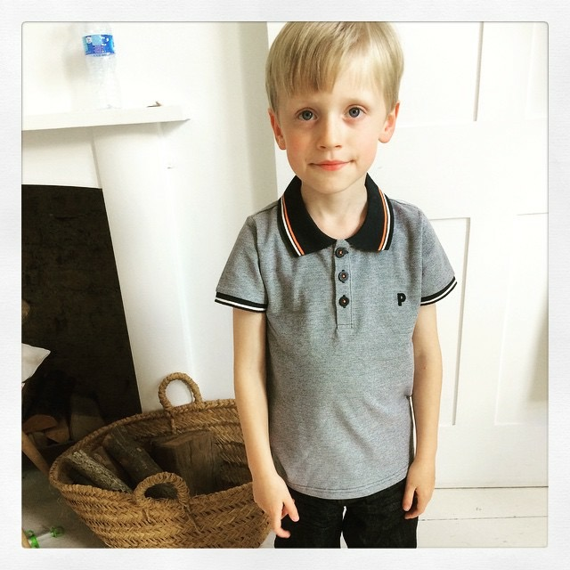 child actor during filming for John Lewis Back to School advert