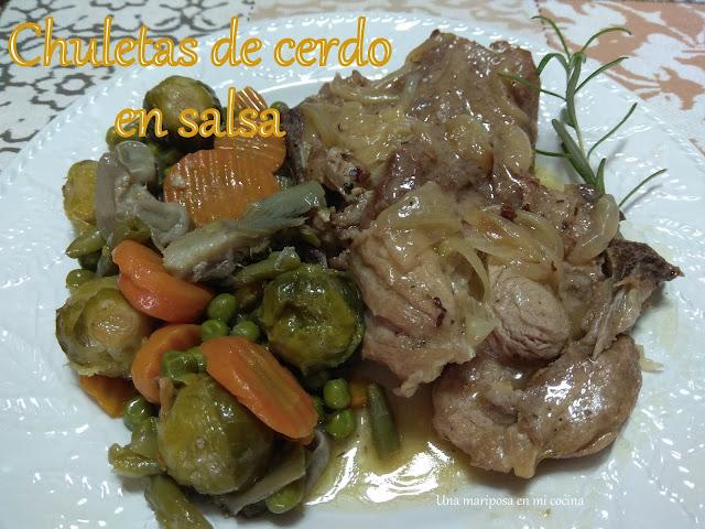 Chuletas De Cerdo En Salsa