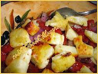 Σαλάτα με χαλούμι και ντομάτα by https://syntages-faghtwn.blogspot.gr