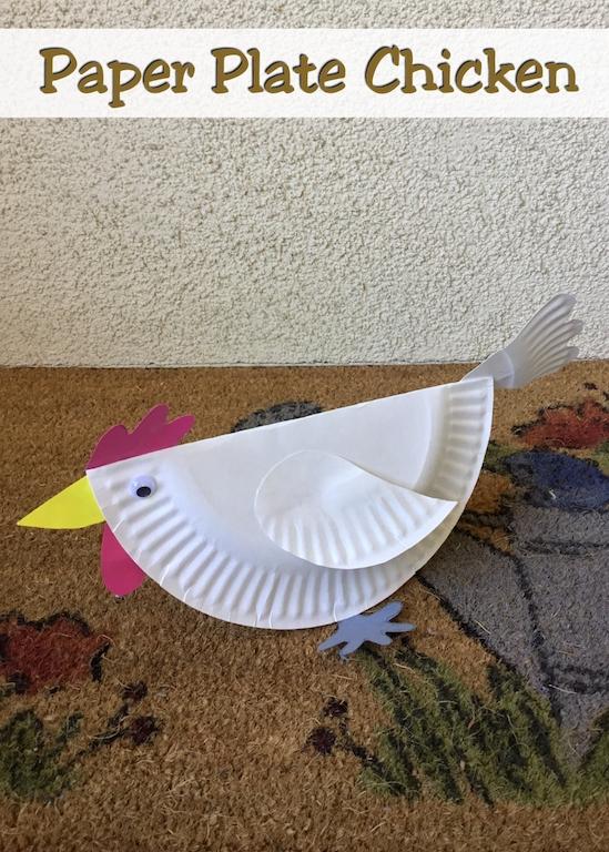Rooster Craft, Hen Craft, easy craft, kids craft, preschool craft, summer craft, paper plate, toddler fun, toddler, kids activity, art for kids, art and craft, crafty mom, crafty, diy