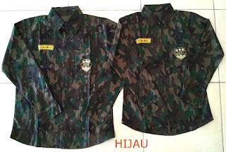 Jual Online Kemeja Army Hijau Couple Murah Jakarta Bahan Katun Terbaru