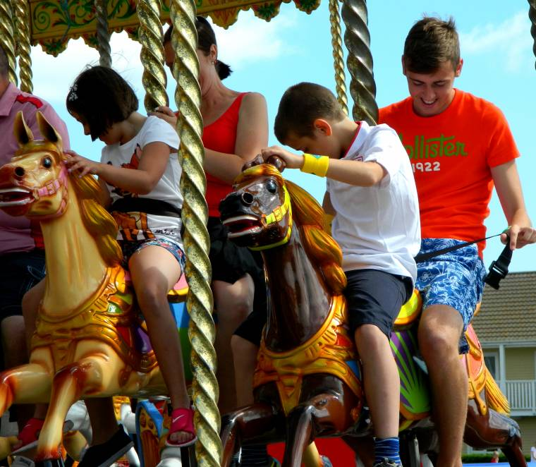 All The Fun On The Carousel At Butlins In Skegness