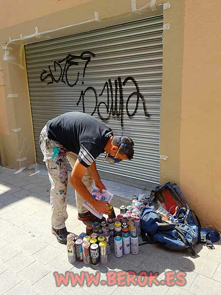 sprays de graffiti para persianas