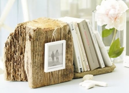 decorative bookend driftwood