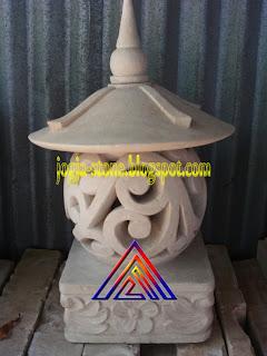 LAMPION BATU ALAM BENTUK BULAT