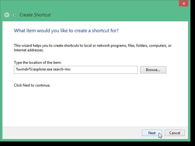 Cara Membuat Shortcut 'Pencarian' Di Desktop Windows 8.1