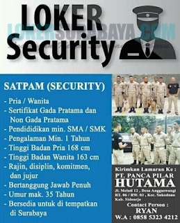 Lowongan Kerja Surabaya di PT. Panca Pilar
