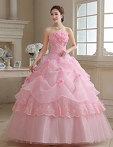 vestidos de novia con color rosa