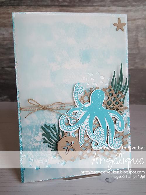 de Stempelkeuken Stampin'Up! producten koopt u bij de Stempelkeuken #stempelkeuken #stampinup #stampinupnl #seaoftextures #sealife #zeeleven #octopus #sanddollar #stempelen #stamping #stempeln #creatief #creatiefleven #kreativ #creative #diy #handmadecards #makeacardsendacard #cardmaking #kaartenmaken #crumbcake #seaweed #zeewier #starfish #cards #birthday #mannenkaarten #mannen #cadeautje #kado #denhaag #rotterdam #scheveningen #vissers #visserij #westland #vellum