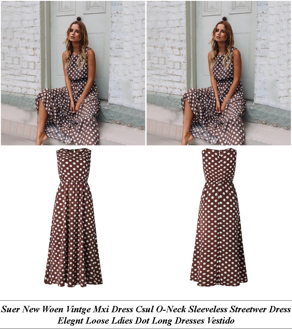 Prom Dresses - Next Sale Womens - Polka Dot Dress - Cheap Ladies Clothes