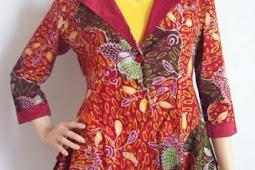 30 Contoh Model Blazer Wanita Karir Batik Desain Modern