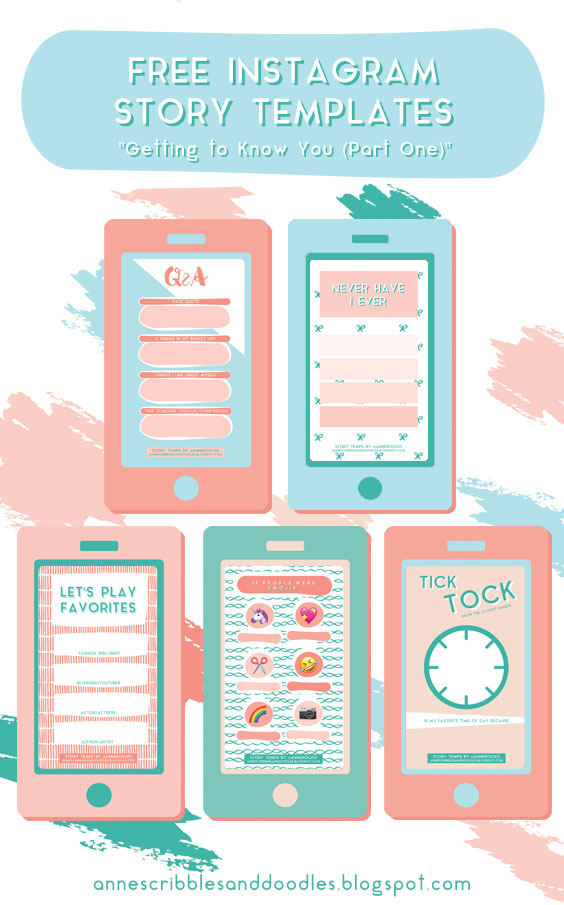 Cute Instagram Story Templates: Getting to Know You | Anne's Scribbles and Doodles