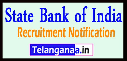 SBI State Bank of India Recruitment Notification 2017