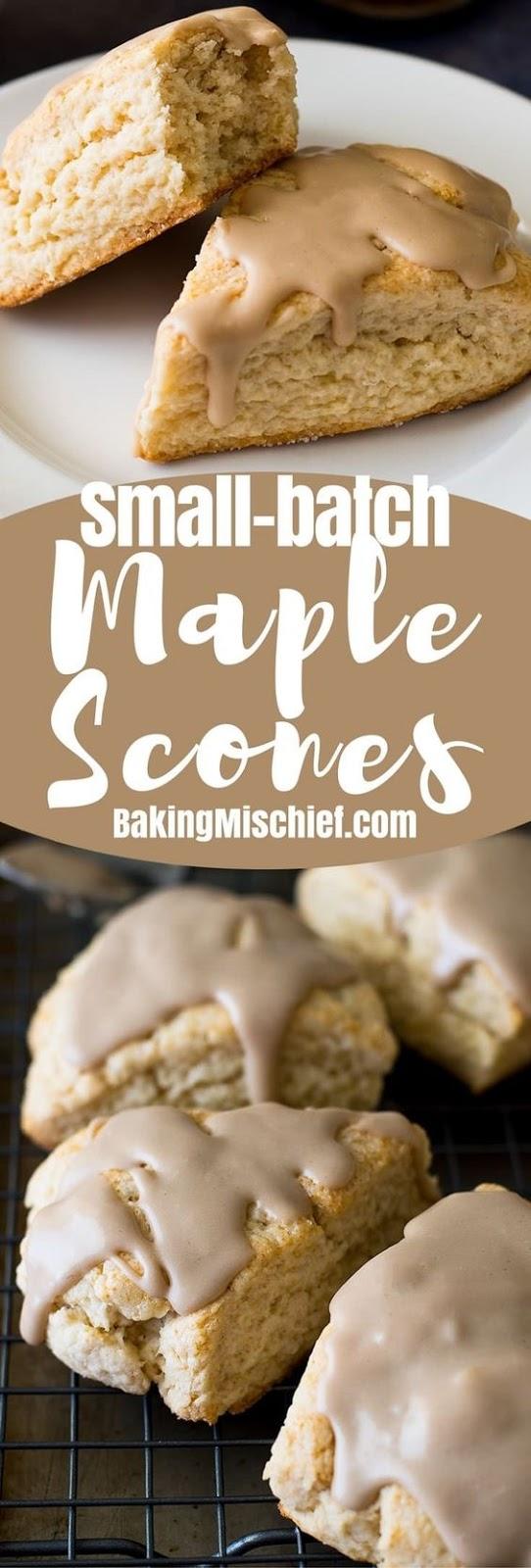 Small-batch Maple Scones (Maple Butter Scones)
