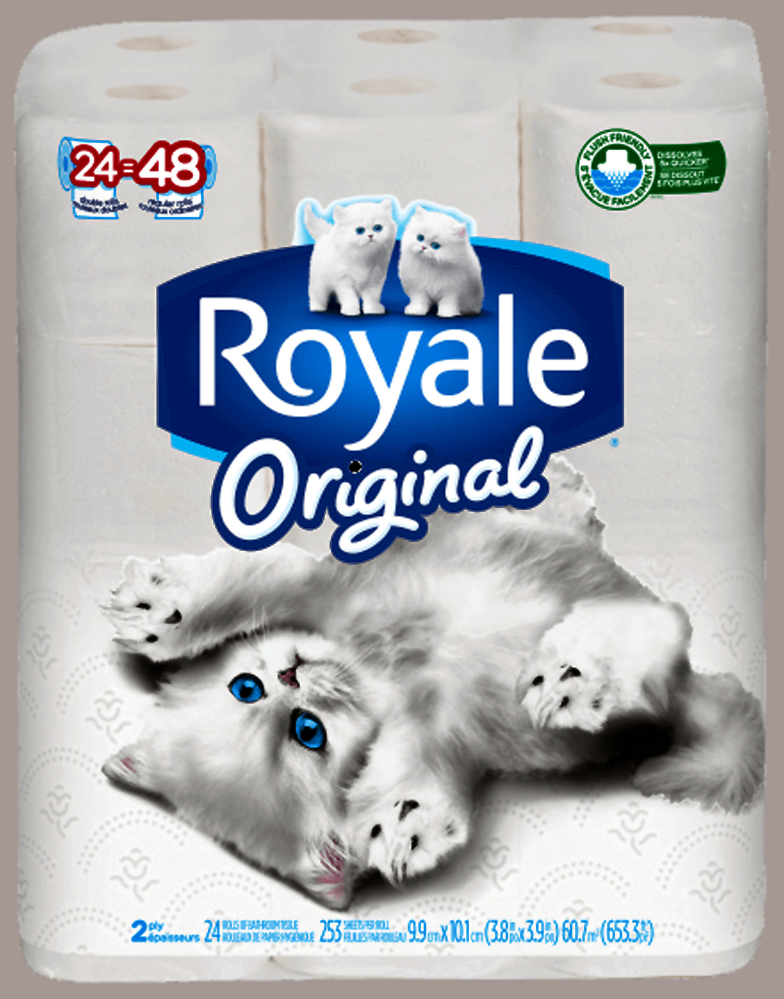 Royale toilet tissue.