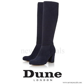 Kate Middleton wore Dune London Toulon Knee High Block Heel Suede Boots