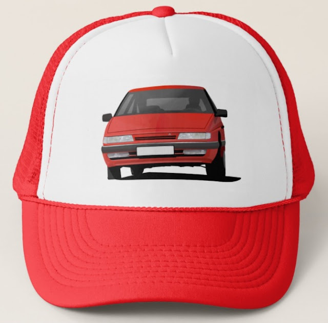 Citroen XM trucker hat red