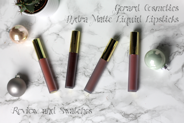gerard cosmetics hydra matte liquid lispticks review swatches lip