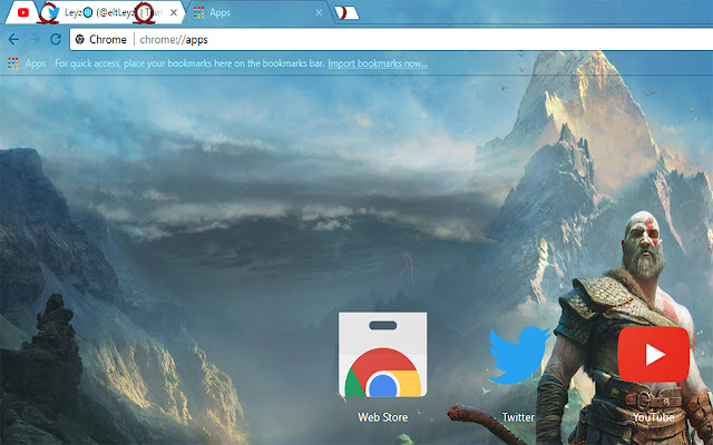God of War Kratos and Son Atreus Theme FOR Chrome 2018