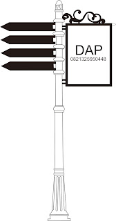 tiang lampu jalan,tiang penunjuk arah,tiang lampu unik