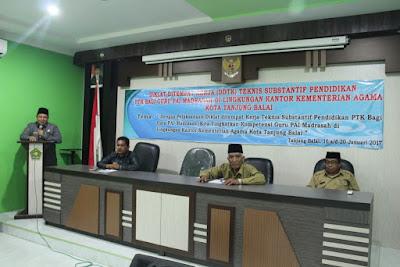 Kemenag Kota Tanjungbalai Laksanakan Diklat DDTK