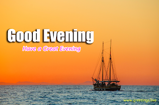 Good Evening Wishes Sea View Boat Picture messages