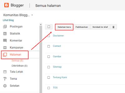 Cara Membuat Halaman About di blogger