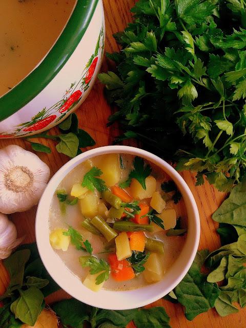 Zupa ziemniaczana z fasolką szparagową / Green Bean Potato Soup
