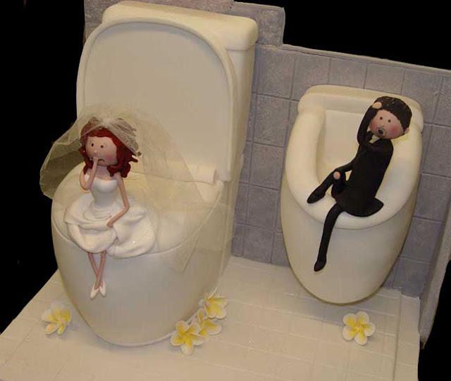 Được tặng bánh kem này chắc cô dâu chú rể hạnh phúc trăm năm