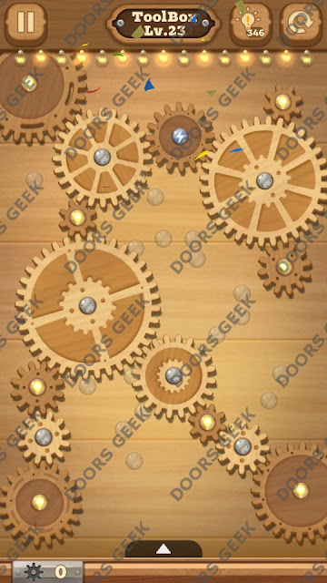 Fix it: Gear Puzzle [ToolBox] Level 23 Solution, Cheats, Walkthrough for Android, iPhone, iPad and iPod