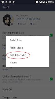 Cara Menjadikan Foto Profil (DP) Line Menjadi Video