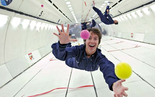 Simulação de gravidade em aviões de gravidade zero