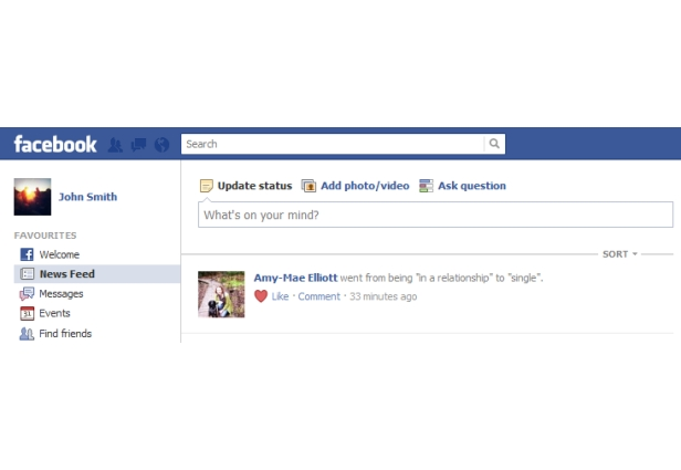 how to show your relationship status on facebook