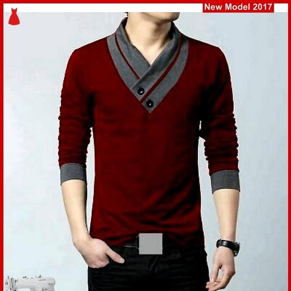 MSF0079 Model Tshirt Maroon Murah Min Ho BMG
