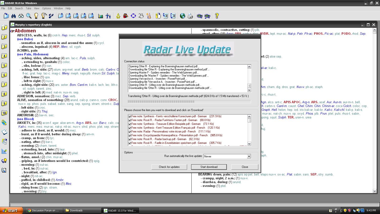 Free Download Radar 10 Homeopathic Software For Windows 7